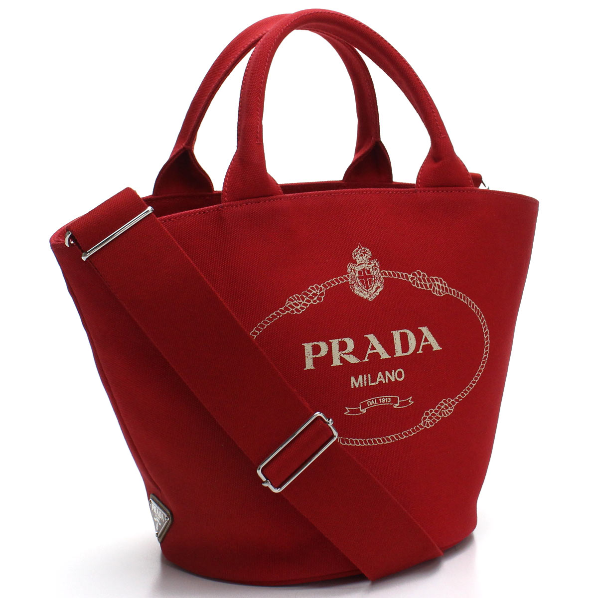 プラダ PRADA カナパ 2way ハンドバッグ 1BG186 ZKI V OOO F0011 ROSSO レッド系 【レディース】