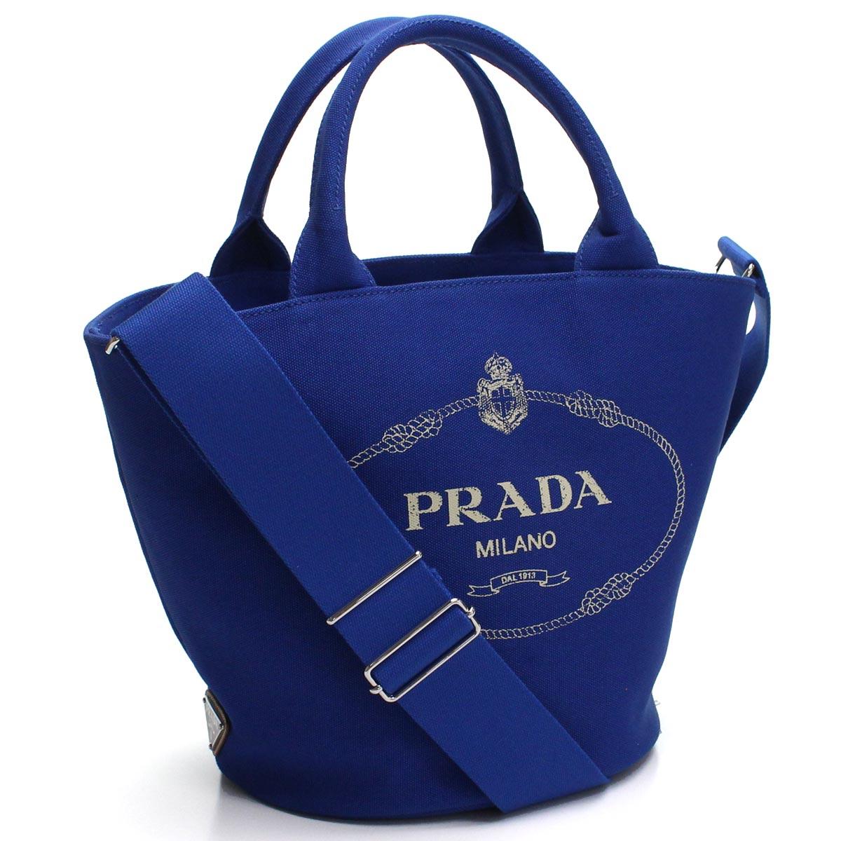 プラダ PRADA カナパ ポーチ付き 2way トートバッグ 1BG186 ZKI V OOO F0215 COBALTO ブルー系 レディース