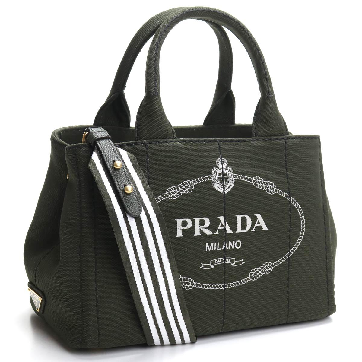 プラダ PRADA カナパ 2way トートバッグ 1BG439 ZKI V ROO F023F MIMETICO+TALCO カーキ レディース