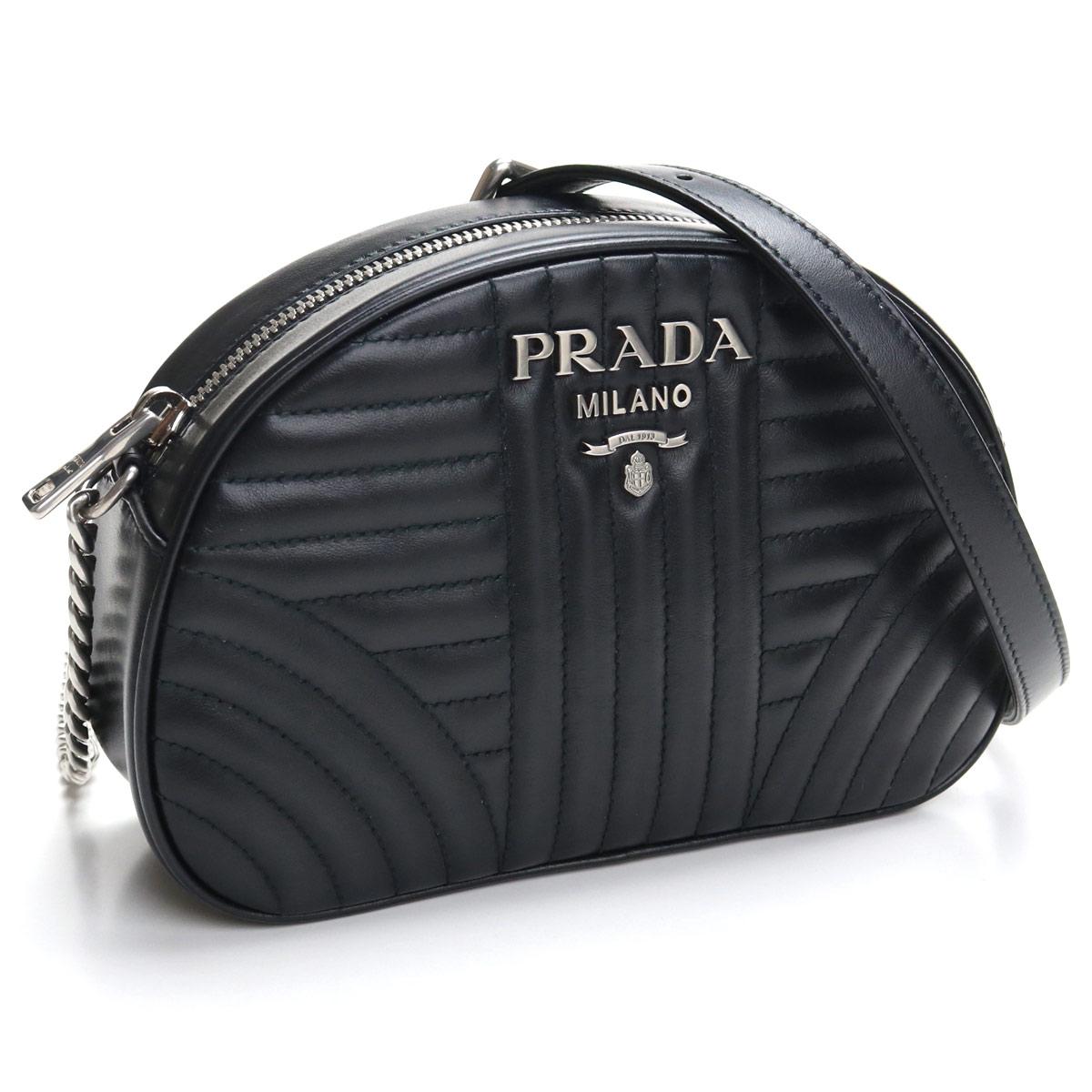 プラダ PRADA キルティング レザー 斜め掛け ショルダーバッグ 1BH147 2D91 V IOI F0633 NERO 2 ブラック レディース