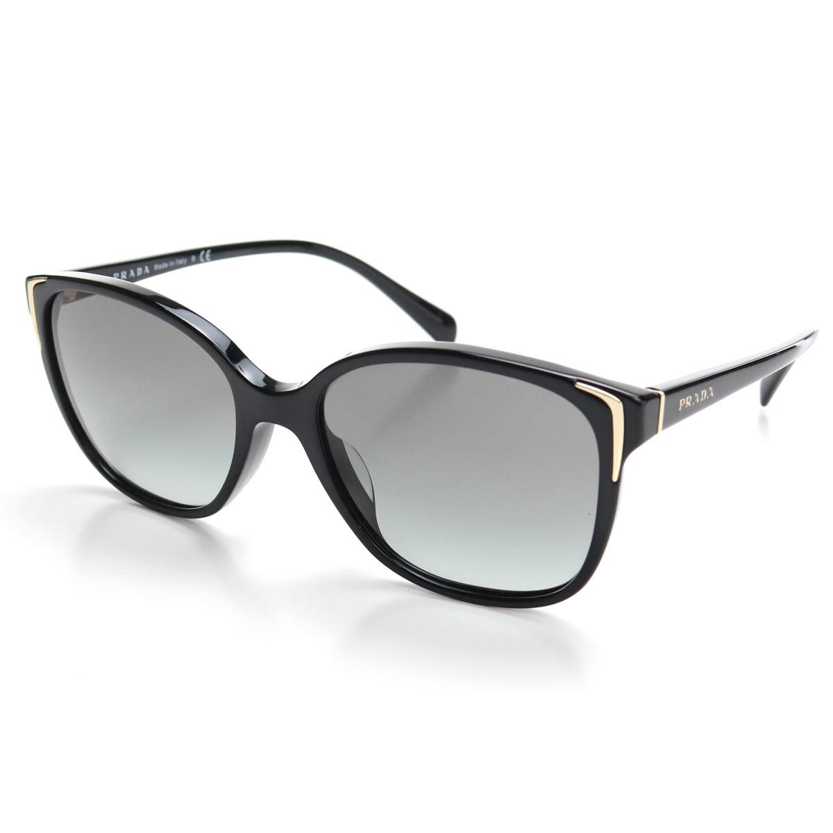 プラダ PRADA ウェリントン サングラス SPR01O-A 1AB-3M1 ブラック 【メンズ】【レディース】
