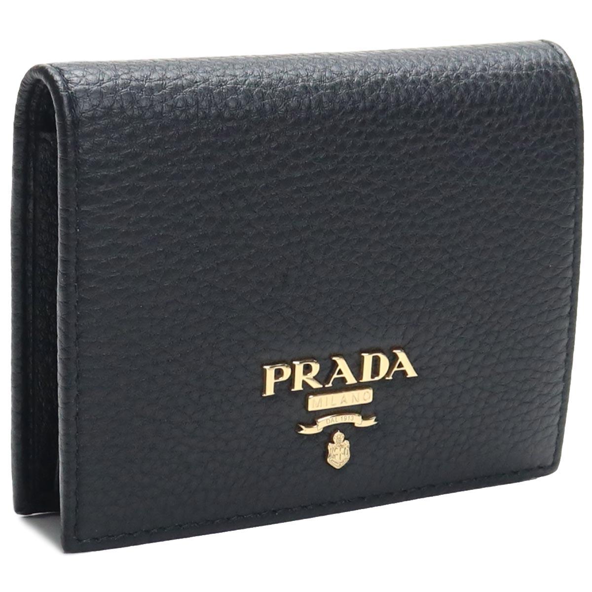 プラダ アウトレット PRADA(OUTLET) 2つ折り財布 コンパクト財布 1MV204-O 2E3A F0002 NERO ブラック レディース
