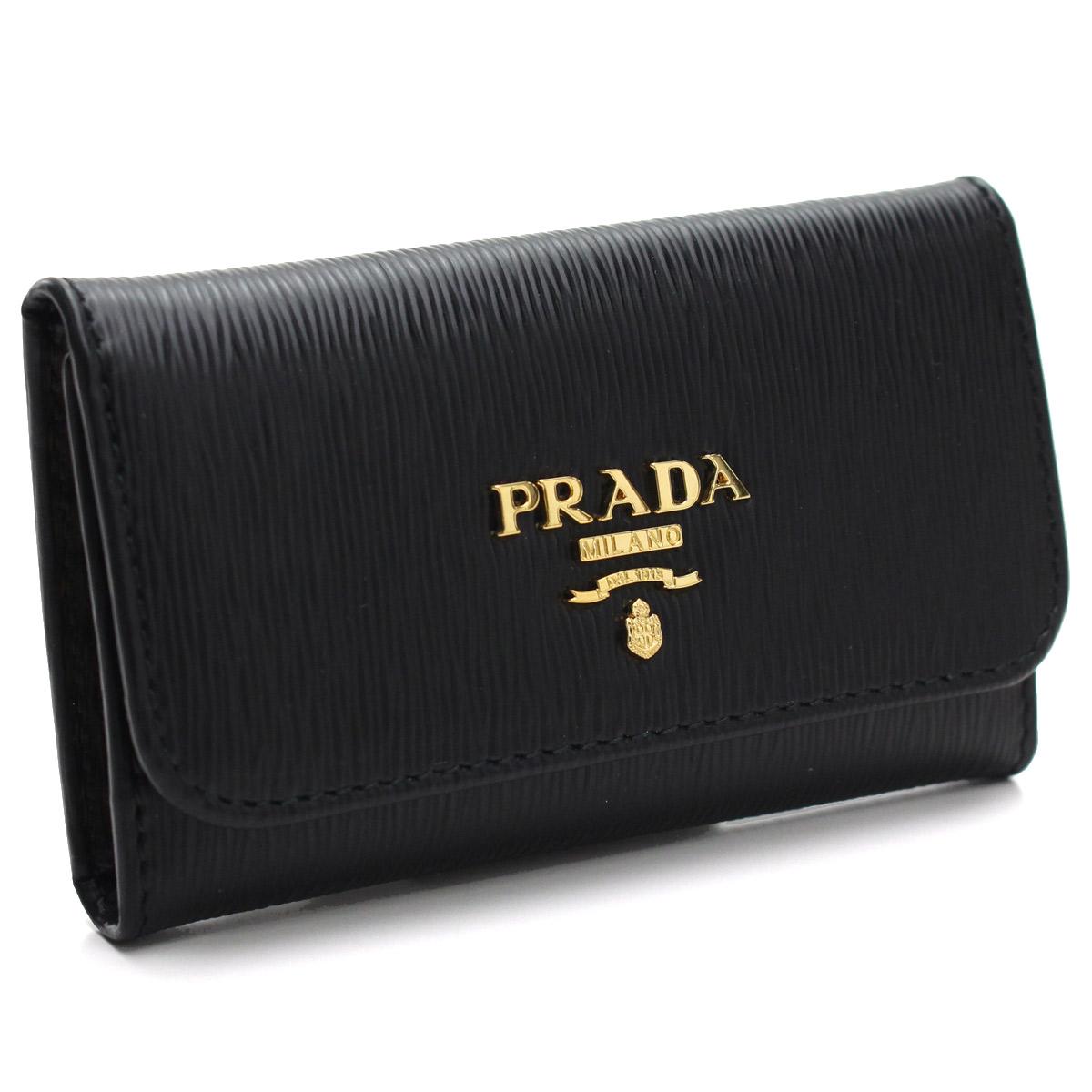 プラダ アウトレット PRADA(OUTLET) 6連キーケース 1PG222-O 2B6P F0002 NERO ブラック 【レディース】