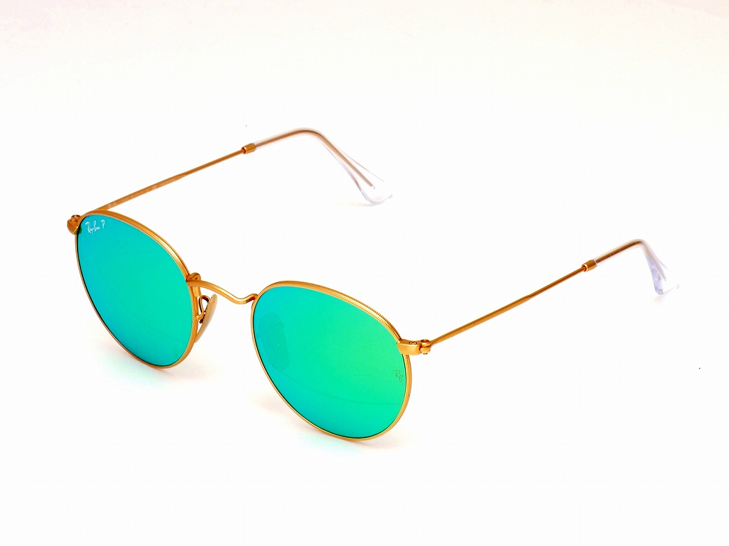 33607c63ef Bighit The total brand wholesale  Ray-Ban (Ray-Ban) round metal  polarization sunglasses 3447 112 P9(50) mat gold