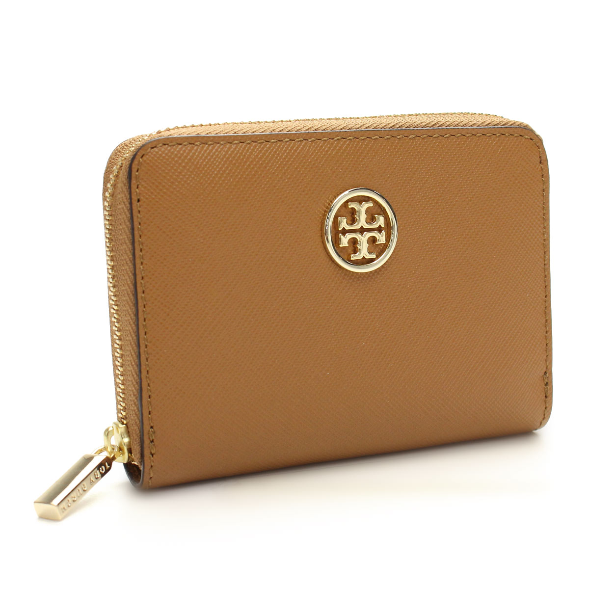 72a7425cca03 Tory Burch (TORY BURCH) ROBINSON with a Keyring coin purse SAFFIANO-211  TIGER EYE Brown( taxfree send by EMS authentic A brand new item )