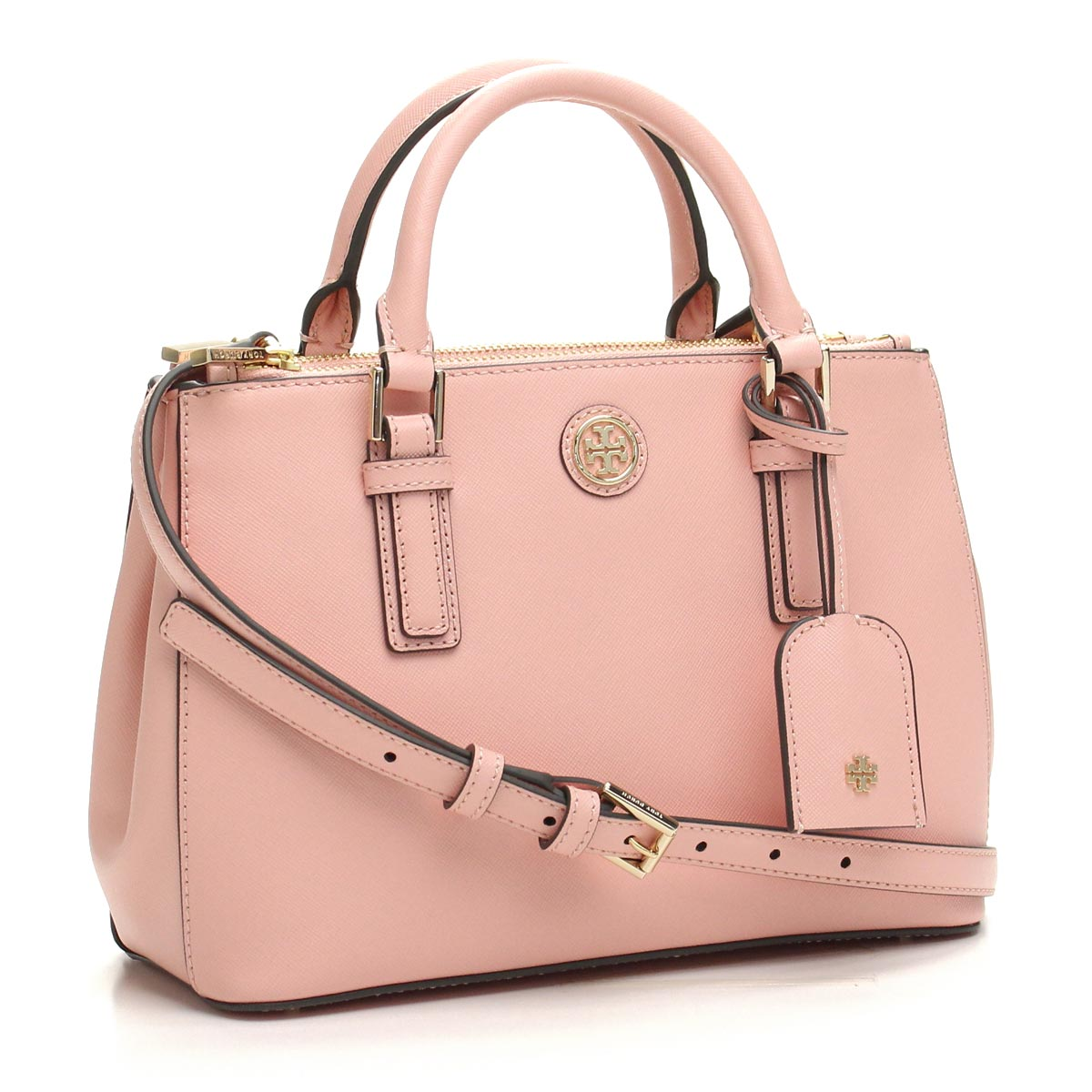 Hit The Total Brand Whole Tory Burch Robinson Saffiano Handbag 659 Rose Sachet Pink Taxfree Send By Ems Authentic A New