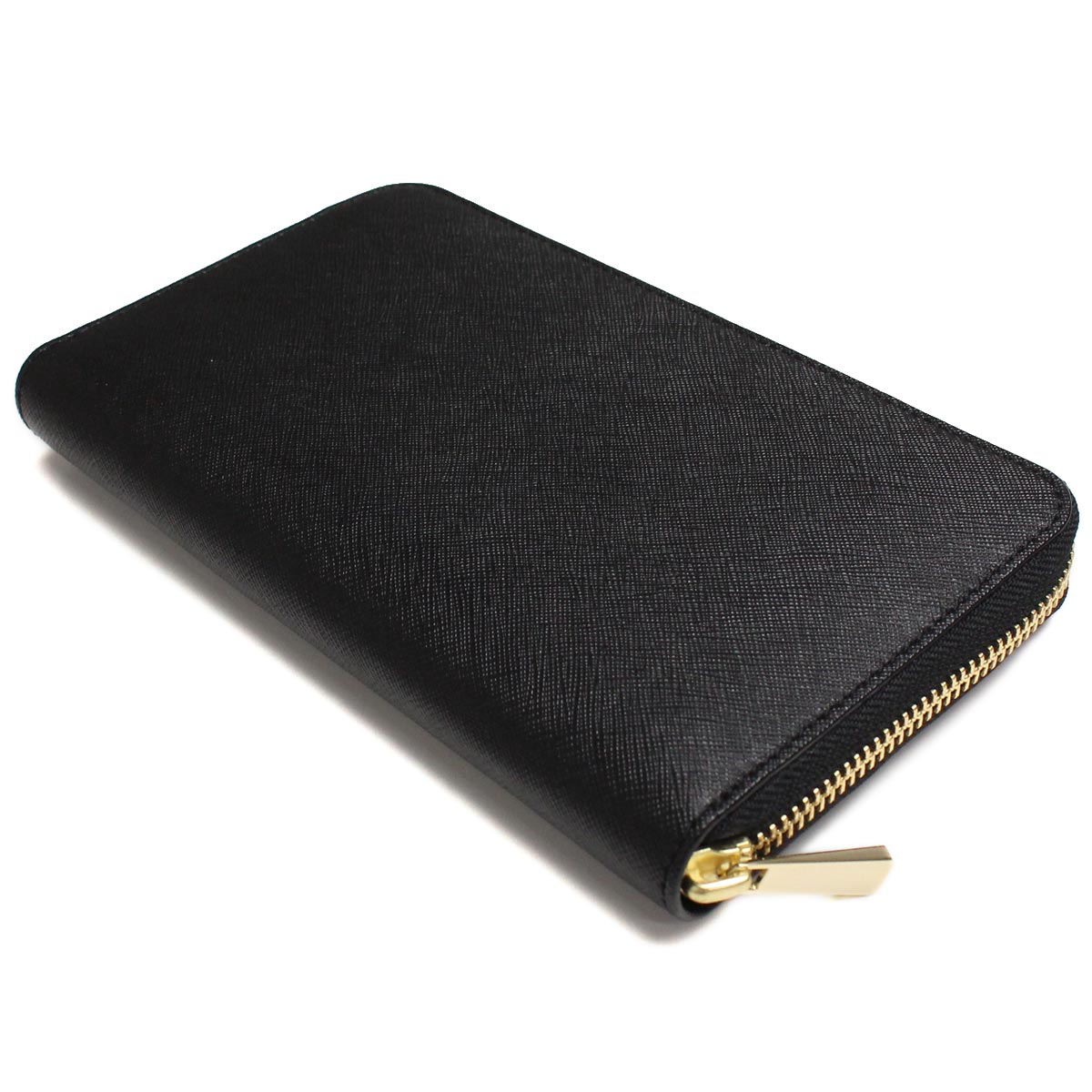 ( tax free ! )Tory Burch (TORY BURCH) ROBINSON ZIP CONTINENTAL long wallet large zip around 11169071-001 BLACK black wallet( taxfree/send by EMS/authentic/A brand new item )