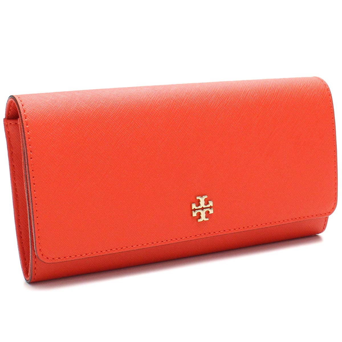 671176cca5a Bighit The total brand wholesale: Tory Burch (TORY BURCH) ROBINSON ENVELOPE  CONTINENTAL wallet two fold rubx 11169072-605 POPPY RED Orange series wallet(  ...