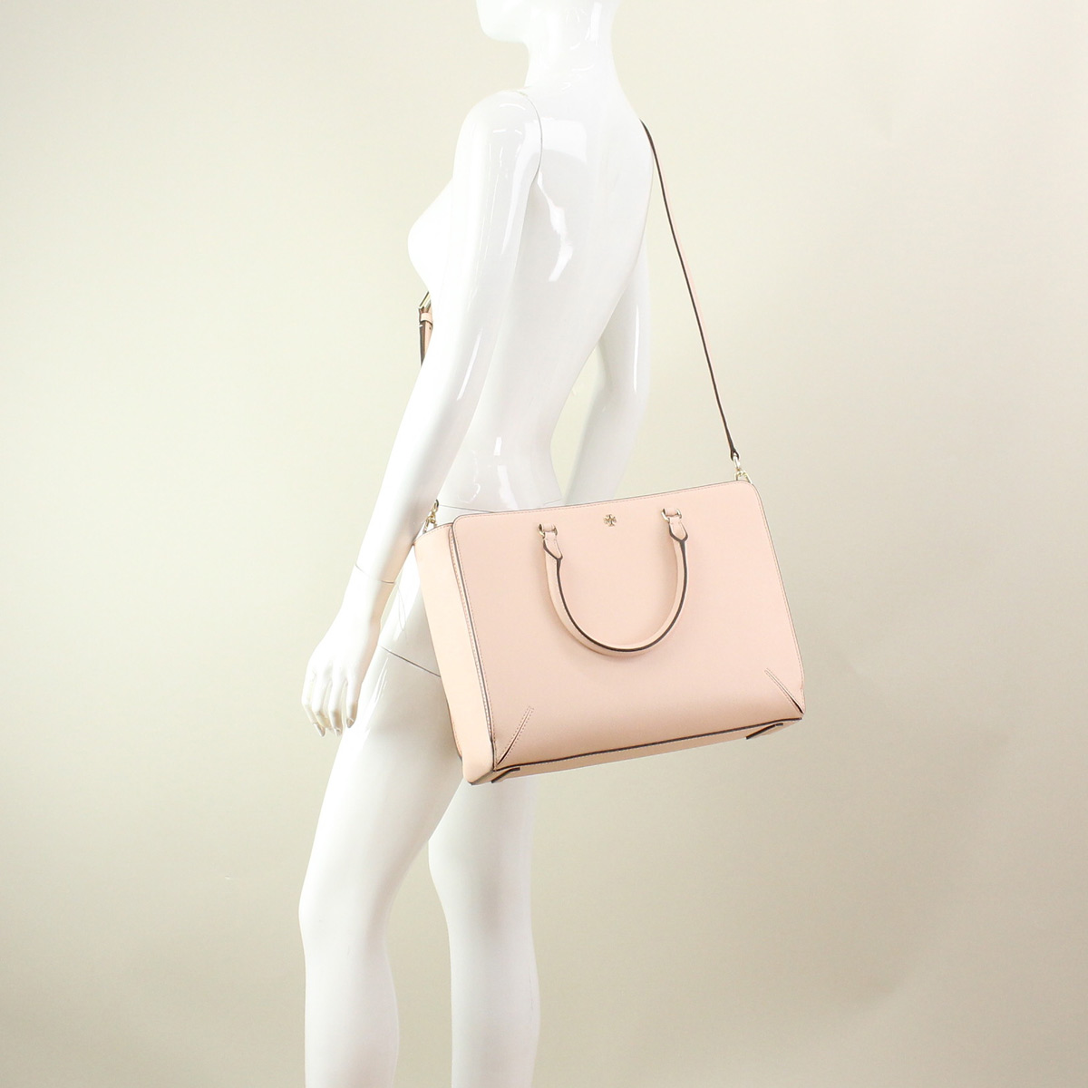 Tory Burch (TORY BURCH) tote bag 11169761-228 PALE APRICOT pink( taxfree/send by EMS/authentic/A brand new item )