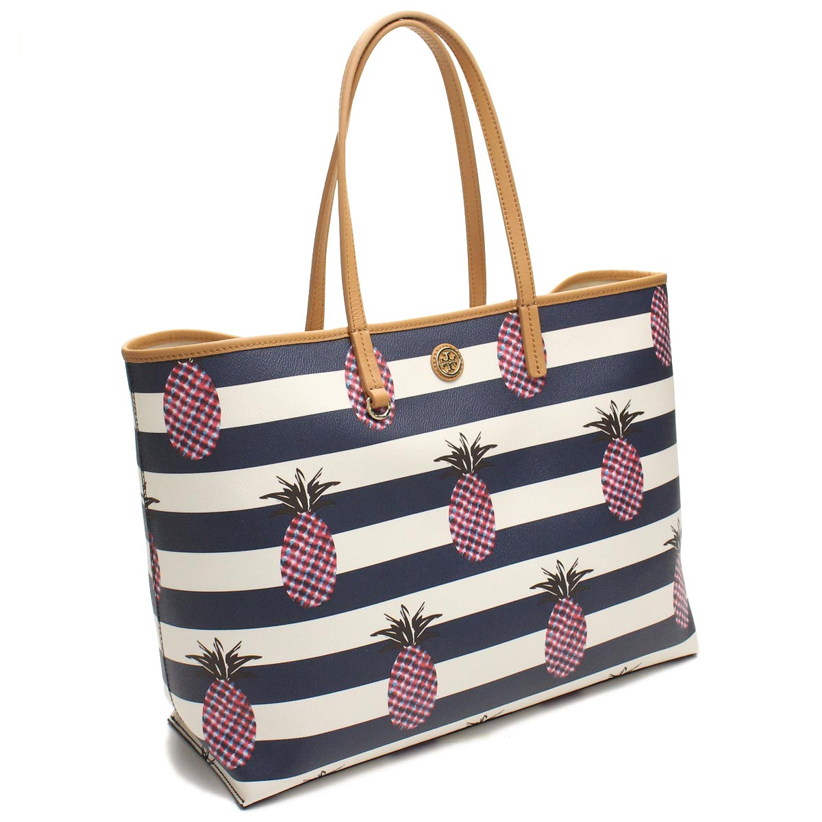 59bf9437e17 Bighit The total brand wholesale  Tory Burch (TORY BURCH) tote bag 12159540  977 LAR PINEAPPLE STRIPE multicolor( taxfree send by EMS authentic A brand  new ...