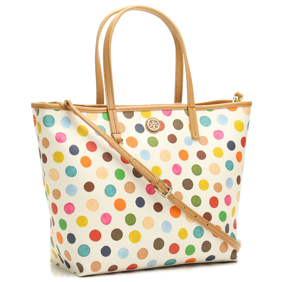 Hit The Total Brand Whole Tory Burch Kerrington Tote Bag 21159541 996 Multidot White Series Multi Color Taxfree Send By