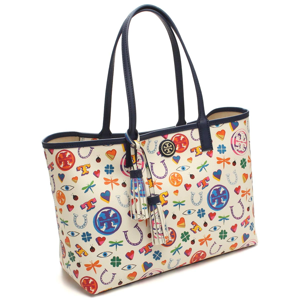 e30ce4254f0 Bighit The total brand wholesale  Tory Burch (TORY BURCH) tote bag  41149508-960 NEW IVORY LUCK PRINT white series multi-color( taxfree send by  ...