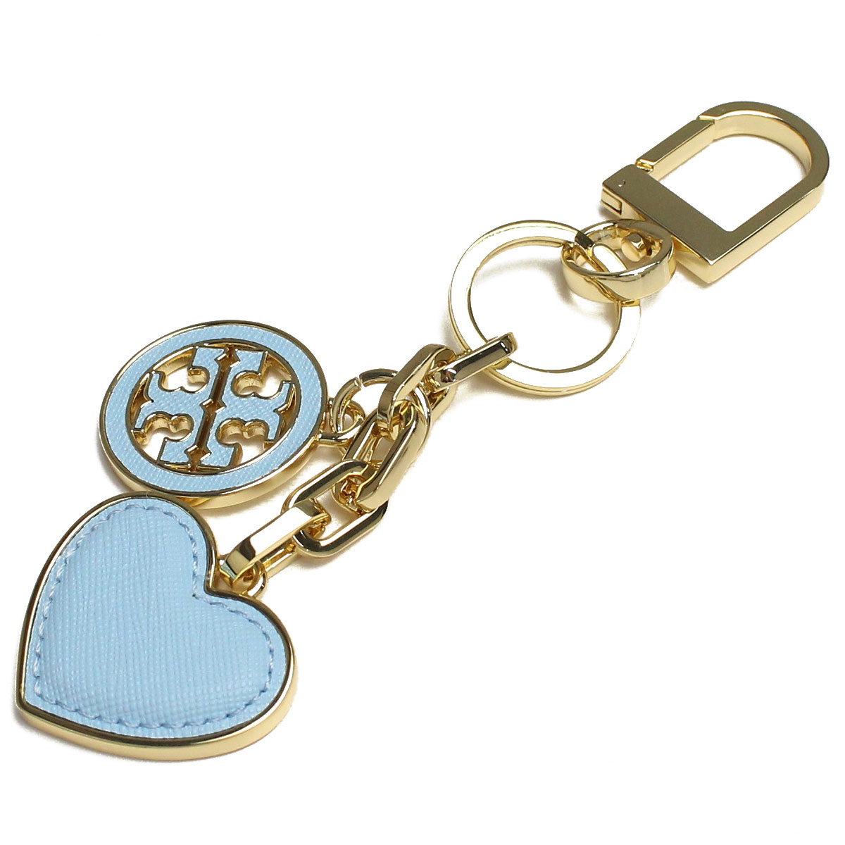 8a6065d82acf Bighit The total brand wholesale  Tory Burch (TORY BURCH) LOGO AND HEART  KEY FOB key ring 11169312-410 RIVIERA BLUE blue( taxfree send by  EMS authentic A ...
