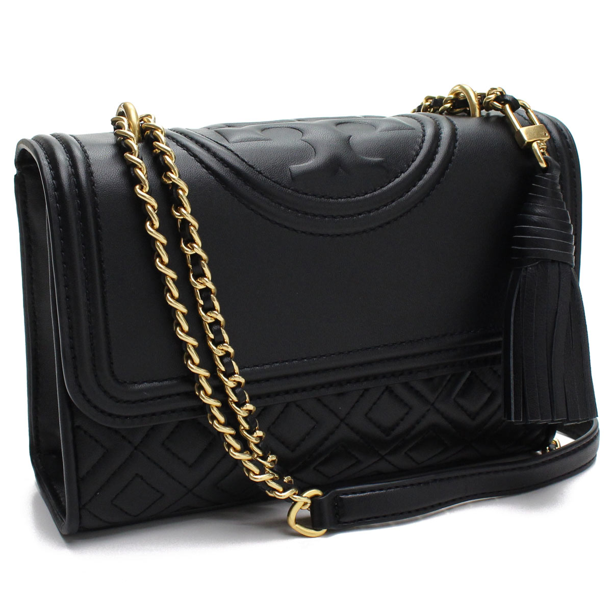 19d77c9a1573 Bighit The total brand wholesale  Tolly Birch TORY BURCH FLEMING QUILTED  LEATHER shoulder bag 43834 001 BLACK black