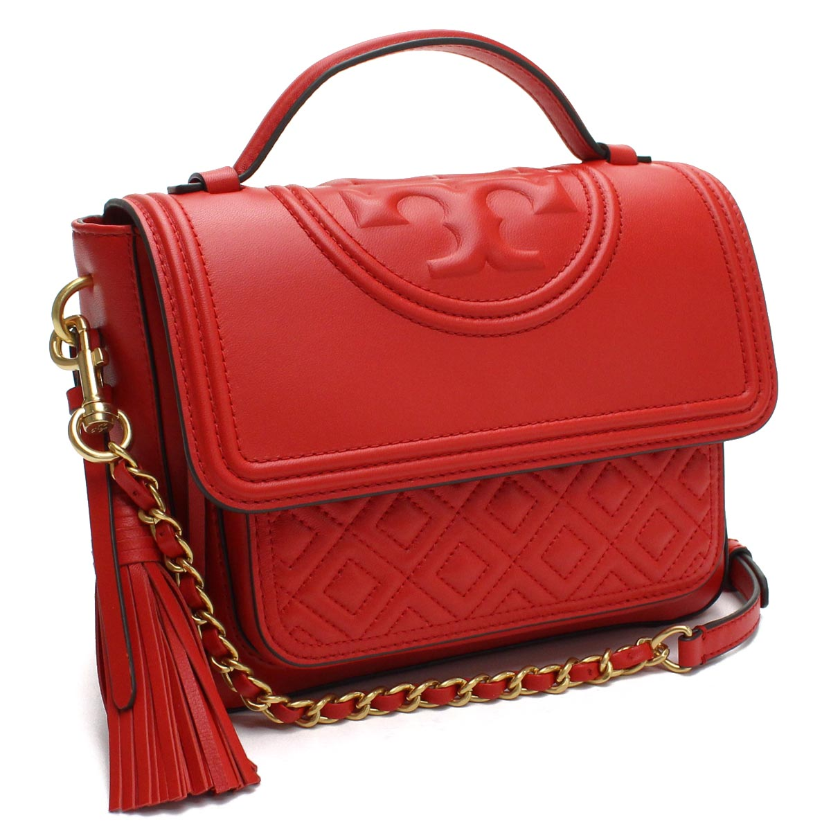 821171b4b67d Bighit The total brand wholesale  Tolly Birch TORY BURCH FLEMING QUILTED  LEATHER Fleming 2Way handbag 45147 612 Brilliant Red red system