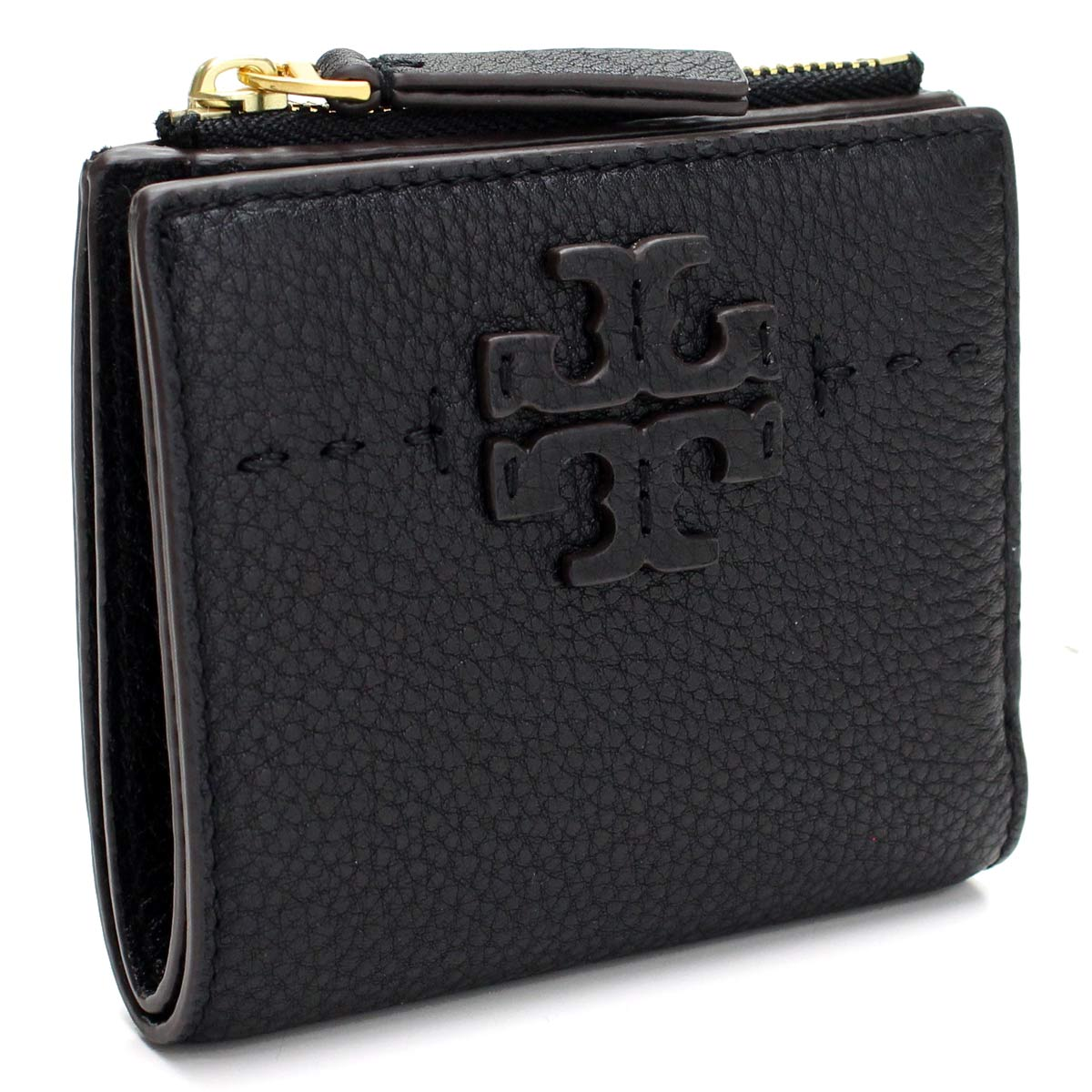 1d51359c950 Bighit The total brand wholesale  Mini-wallet 45246 001 BLACK black with  the Tolly Birch TORY BURCH MCGRAW two fold wallet coin purse