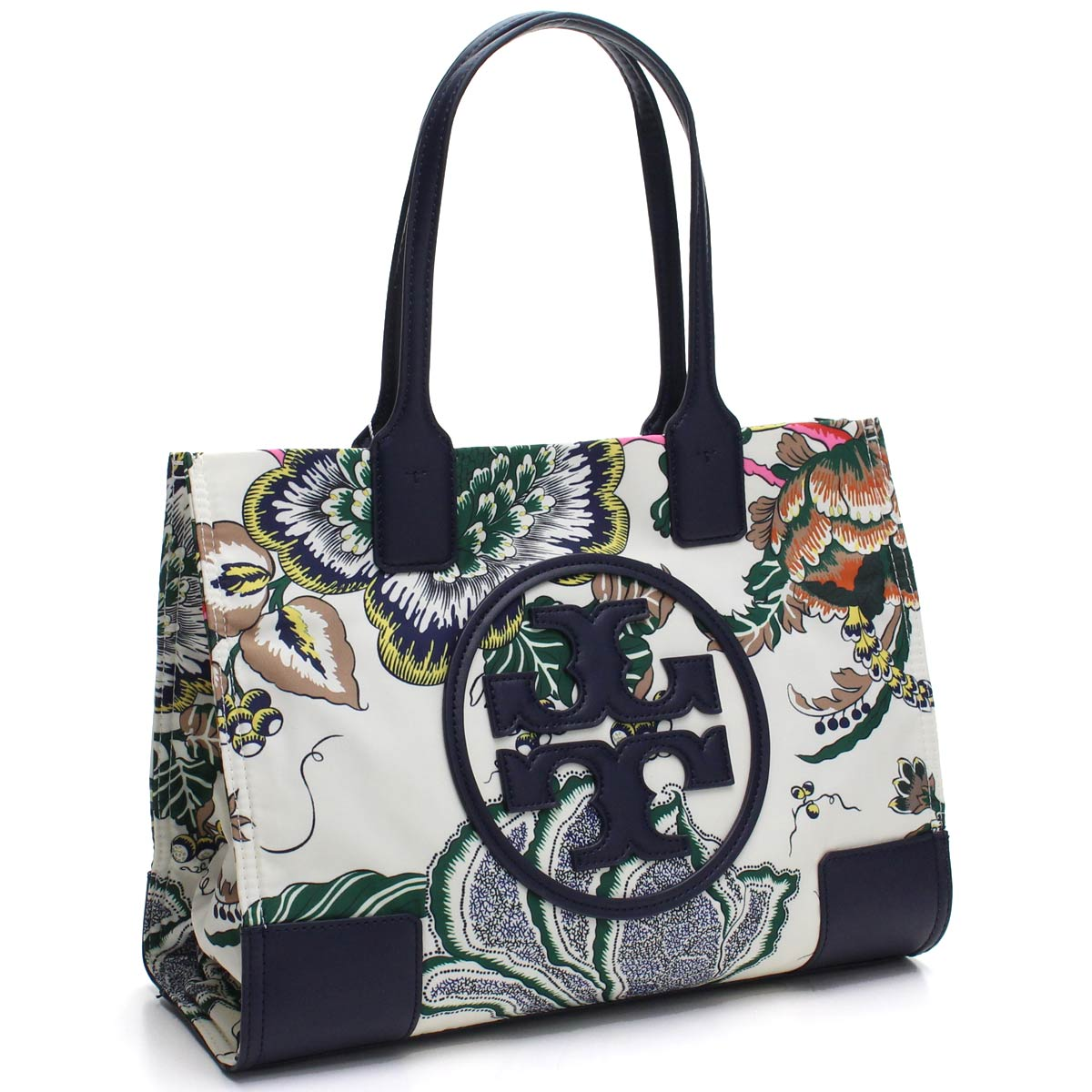 77fbc061a89 Bighit The total brand wholesale  Tolly Birch TORY BURCH ELLA PRINTED ボタニカル  pattern print gills Thoth tote bag 52463 162 IVORY HAPPY TIMES white system  ...