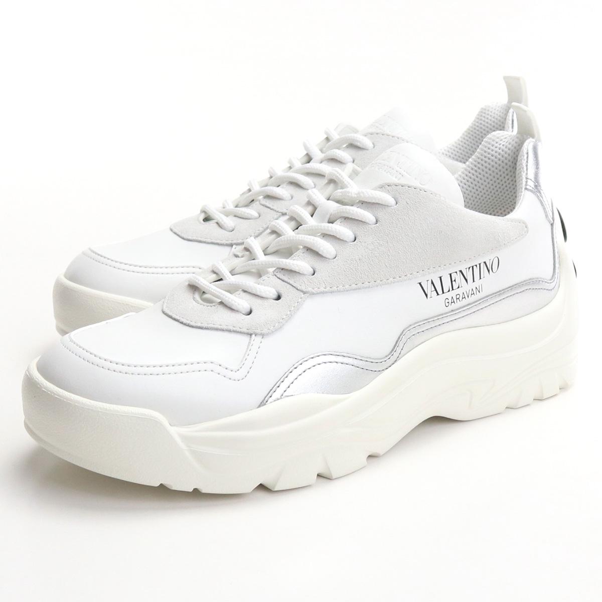 低価格 ヴァレンティノ VALENTINO メンズスニーカー ローカット UY0S0B17 PSD GR9 ホワイト系 シルバー系 bos-18 shoes-01 メンズ, ミナミウワグン 6edbca76