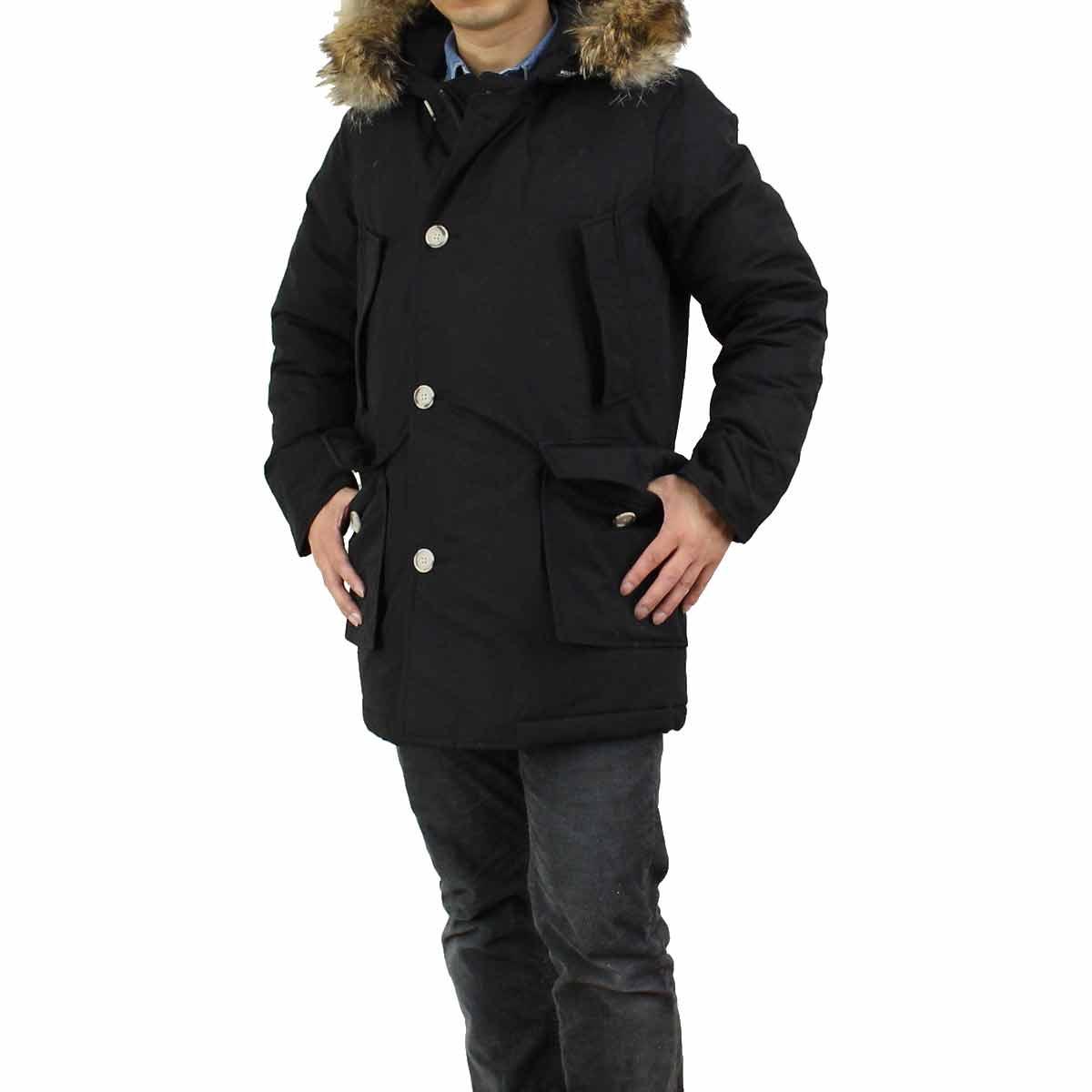 Black woolrich arctic parka jacket