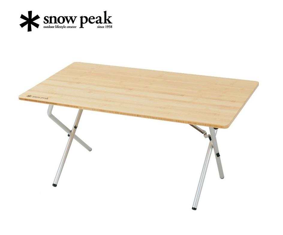 snowpeak (スノーピーク) LV-100T ワンアクションローテーブル竹 /アウトドア/キャンプ/nsts