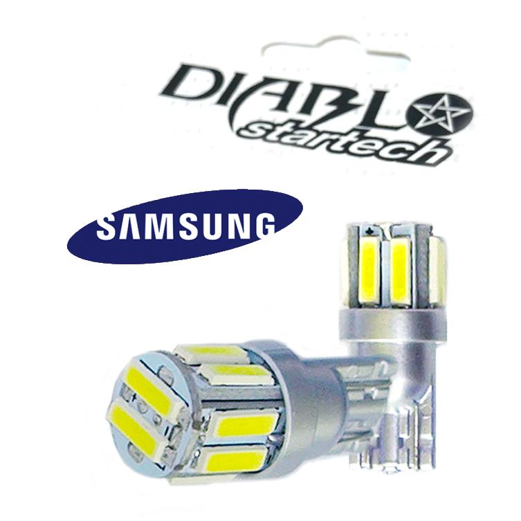 LEDバルブ t10 ルームランプ ポジションランプ ナンバー灯 startech 5W級 ☆最安値に挑戦 T10 ギフト LED バルブ N-BOX 10連×2SMD N-ONE 7020 バモスポジションランプ N-WGN 20チップ搭載 ウエッジ球 SAMSUNG
