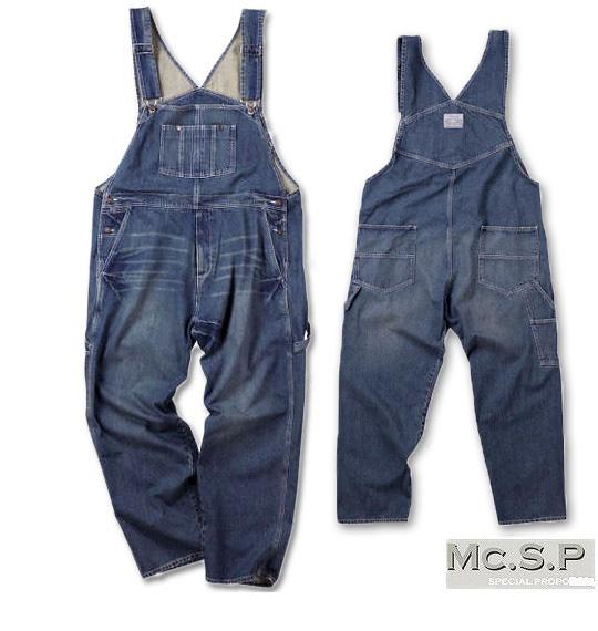 無料 大きいサイズ メンズ ビッグサイズ BIG メンズファッション 服 エムシーエスピー SP 全品ポイント10倍 Mc.S.P 送料無料 デニムオーバーオール 当店一番人気 5L コンビニ受取対応商品 3L 8L 4L 6L ブルー