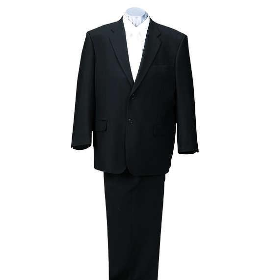 大きいサイズ メンズ 2ツ釦 礼服(フォーマルスーツ) ブラック 3L 4L 5L 6L 7L 8L 送料無料【コンビニ受取対応商品】