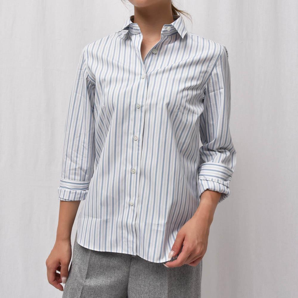 正規品 Finamore(フィナモレ)GIULIA/ZOE 044343 コットン マルチストライプシャツ