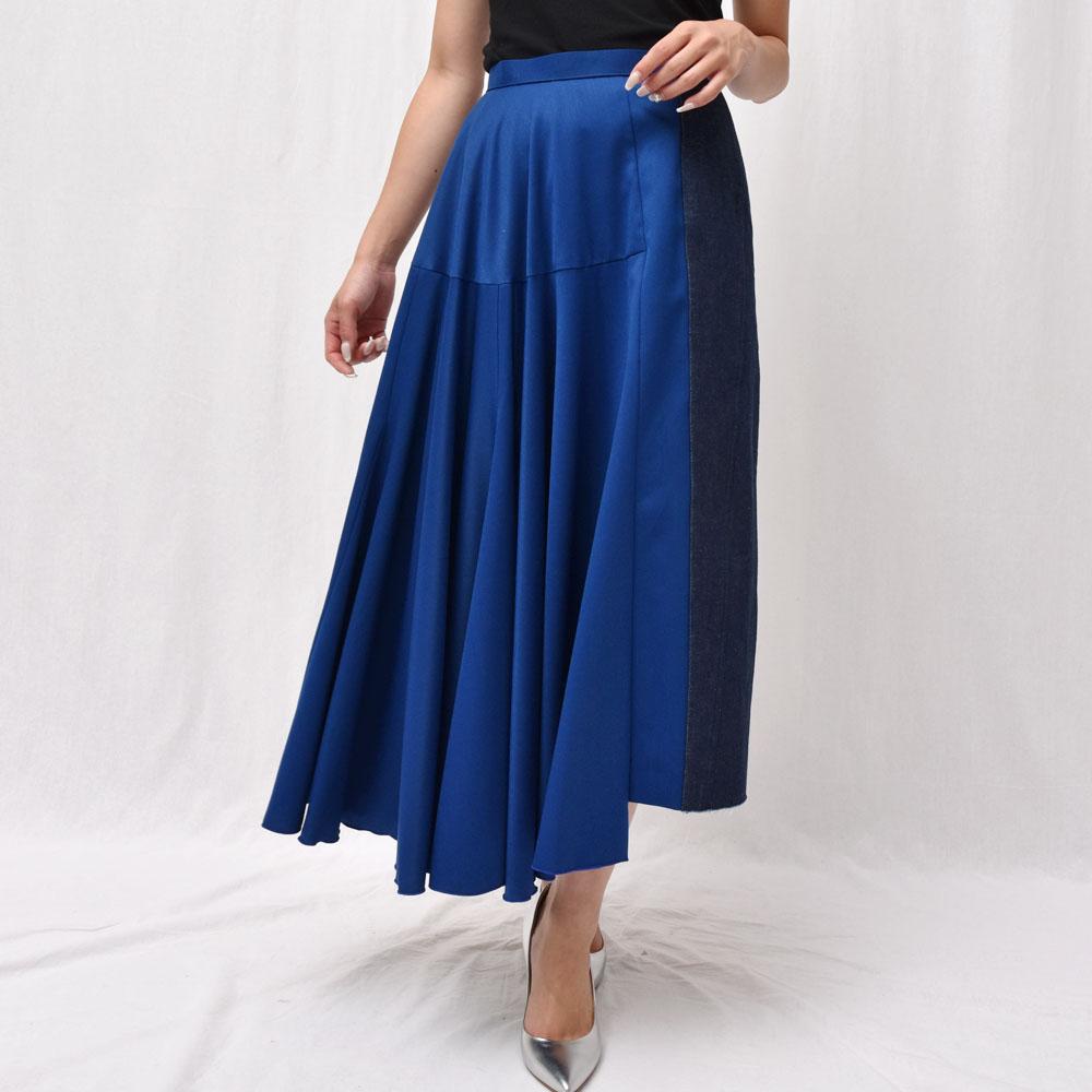 正規品 AMBELL(アンベル)O SKT 004 デニムミックス ロングスカート