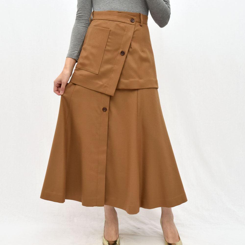 正規品 SAYAKA DAVIS(サヤカ デイヴィス)HSK41-WFL ウール レイヤードスカート