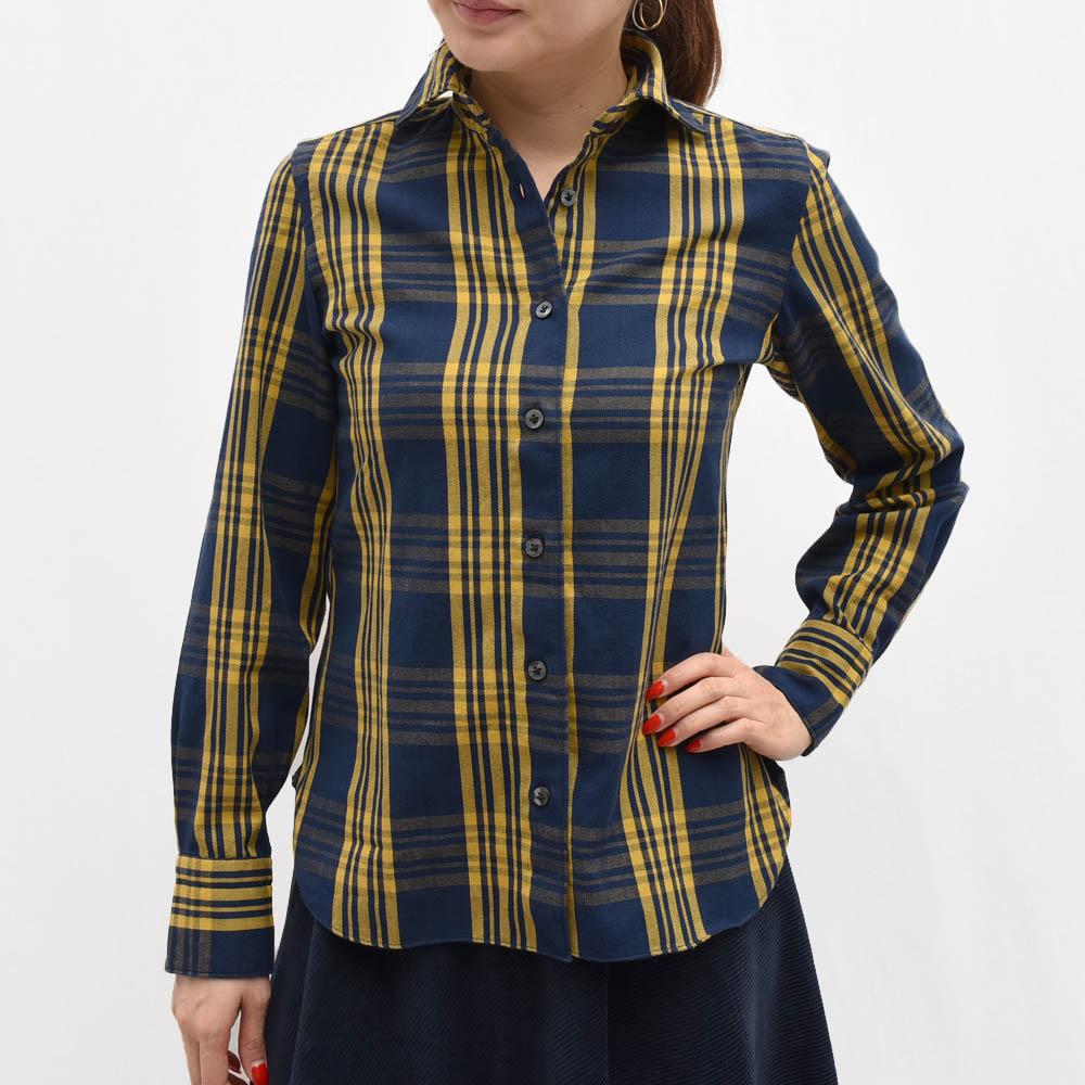 正規品 Finamore(フィナモレ)A9023/LILLI チェックシャツ レディース