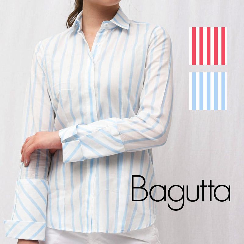 正規品 Bagutta(バグッタ)AGATA 06272 コットン ストライプシャツ