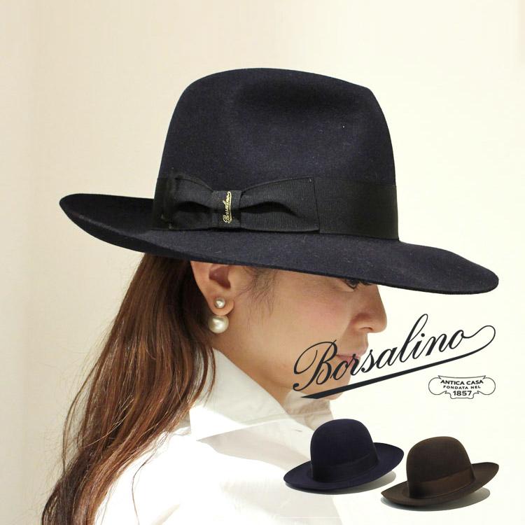 正規品 Borsalino(ボルサリーノ)4BO 24112/212993 ワイドブリムハット