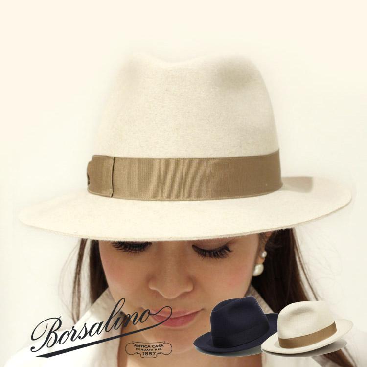 正規品 Borsalino(ボルサリーノ)4BO 24403/213024 ミドルブリムハット