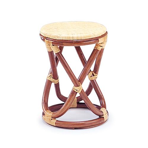 【最大1000円OFFクーポン】ラタン スツール 01-0285-00 カザマ 籐 椅子 コンパクトサイズ 背なし