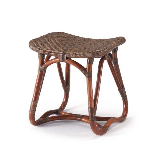 【最大1000円OFFクーポン】カザマ ラタンスツール〈AB〉 02-0406-00 籐製 籐椅子 コンパクトサイズ 背なし
