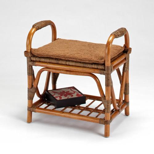 【最大1000円OFFクーポン】ラタン スツール〈AB〉02-0462-85 カザマ 籐 エントランスチェアー サポートスツール 椅子 背なし 玄関 立ち上がり補助