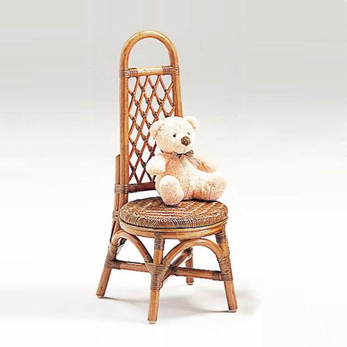 【最大1000円OFFクーポン】ラタン ミニローザンヌチェア〈AB〉 13-0130-00 カザマ アンティークブラウン 子供用 軽い 籐 椅子 キッズチェア