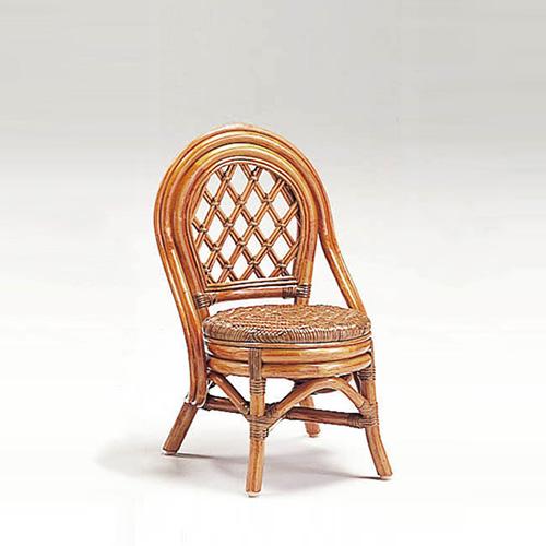 【最大1000円OFFクーポン】ラタン ミニバリチェア〈AB〉 13-0132-00 カザマ アンティークブラウン 子供用 軽い 籐椅子 キッズチェア
