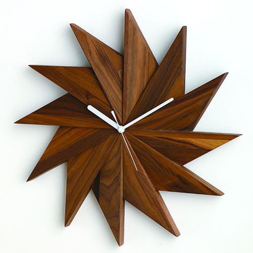 【最大1000円OFFクーポン】壁掛け時計 Latree ラトレ ウォールクロック 風ウォルナット PL1TIM-0030414-WNOL天然木 ウォールナット ナチュラル 時計 木製 天然木 シンプル