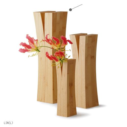【最大1000円OFFクーポン】TEORI 竹の 一輪挿し LIN L ナチュラルオイル仕上げ 木製 竹製 天然木 1輪挿し 花瓶 フラワーベース国産 日本製