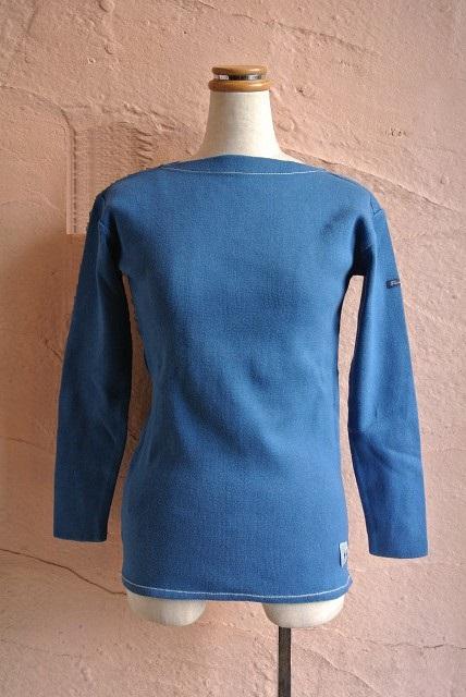 ★FILEUSE D'ARVOR★보더 바스크 셔츠 보더 보트 넥 니트 PASTEL BLUE
