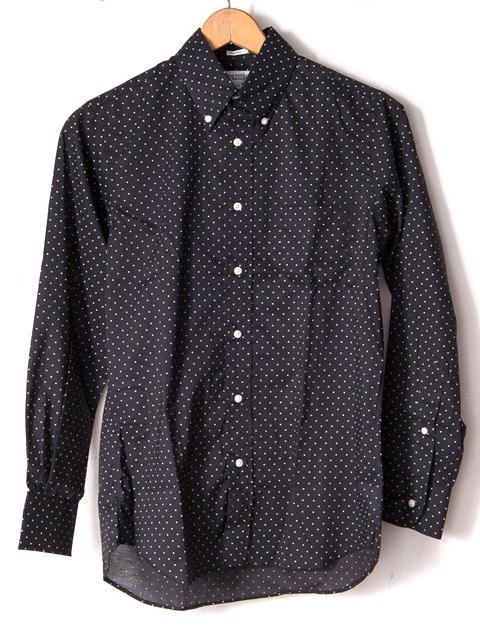 ★INDIVIDUALIZED SHIRTS (インディビジュアライズドシャツ)★Polka Dot MENS / Standard FitボタンダウンシャツBlack