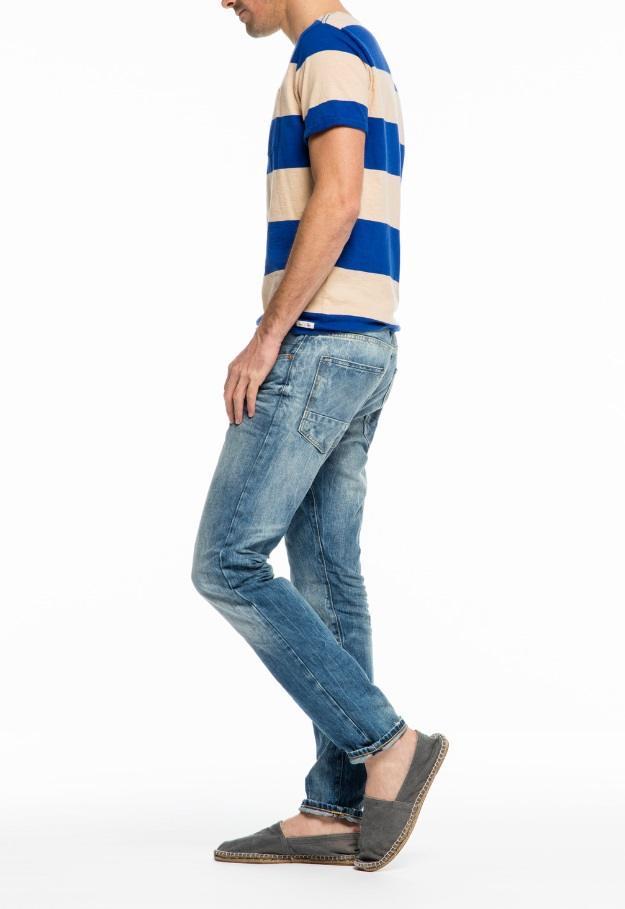 ★SCOTCH&SODA苏格兰威士忌和苏打★Ralston-Solar Bright USED加工粗斜纹布Colour: denim blue(48)