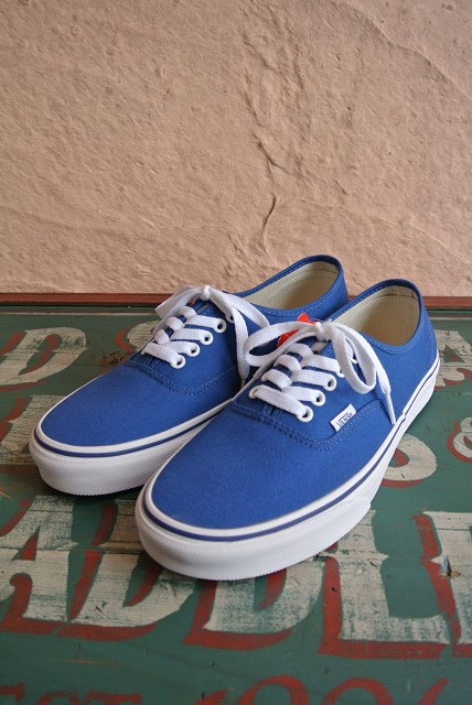 fd6e0fd0d26a BIG SHOT  ☆ vans ☆ AUTHENTIC authentic vn0004mkiht leather shoes (POP  CHECK) BLUEPRINT TRUE BLUE
