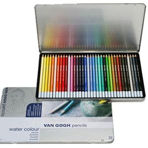 ◆ サクラクレパスヴァンゴッホ水彩色鉛筆36色セット(メタルケース入)T9774-0036