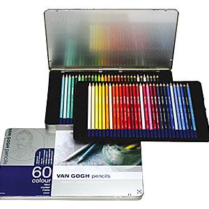 【送料無料】◆ サクラクレパスヴァンゴッホ色鉛筆60色セット(メタルケース入)T9774-0065