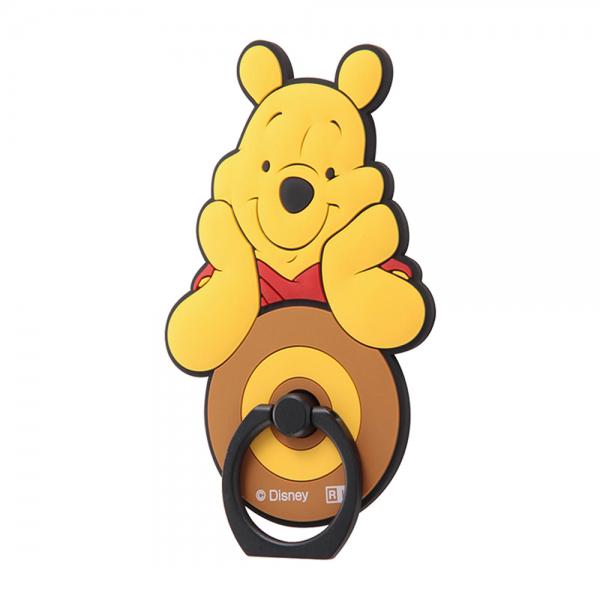 スマホ操作中の落下防止! イングレム ディズニー スマートフォン用リング 『くまのプーさん スタンダード』_01 IS-DSBKR/PO001【メール便送料無料】