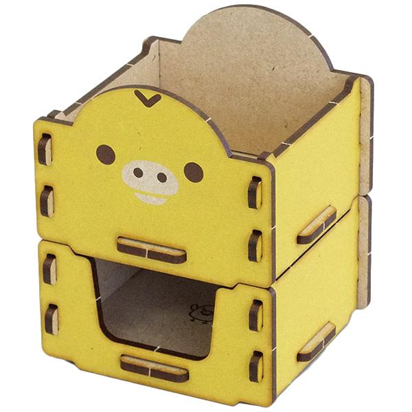 リラックマの木製雑貨シリーズ リラックマ グッズ 組み立て木箱2段 キイロイトリ RK1803T コリラックマ チャイロイコグマ 組立 インテリア 木箱 プレゼント タイムセール あす楽対応 日本製 収納 小物入れ 日本正規品