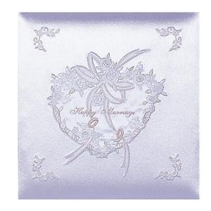 【送料無料】◆ ナカバヤシ フエルアルバム婚礼用 ハッピーマリッジ W(ホワイト) 名入れ刺繍込み Lサイズ ア-OLK-107/N